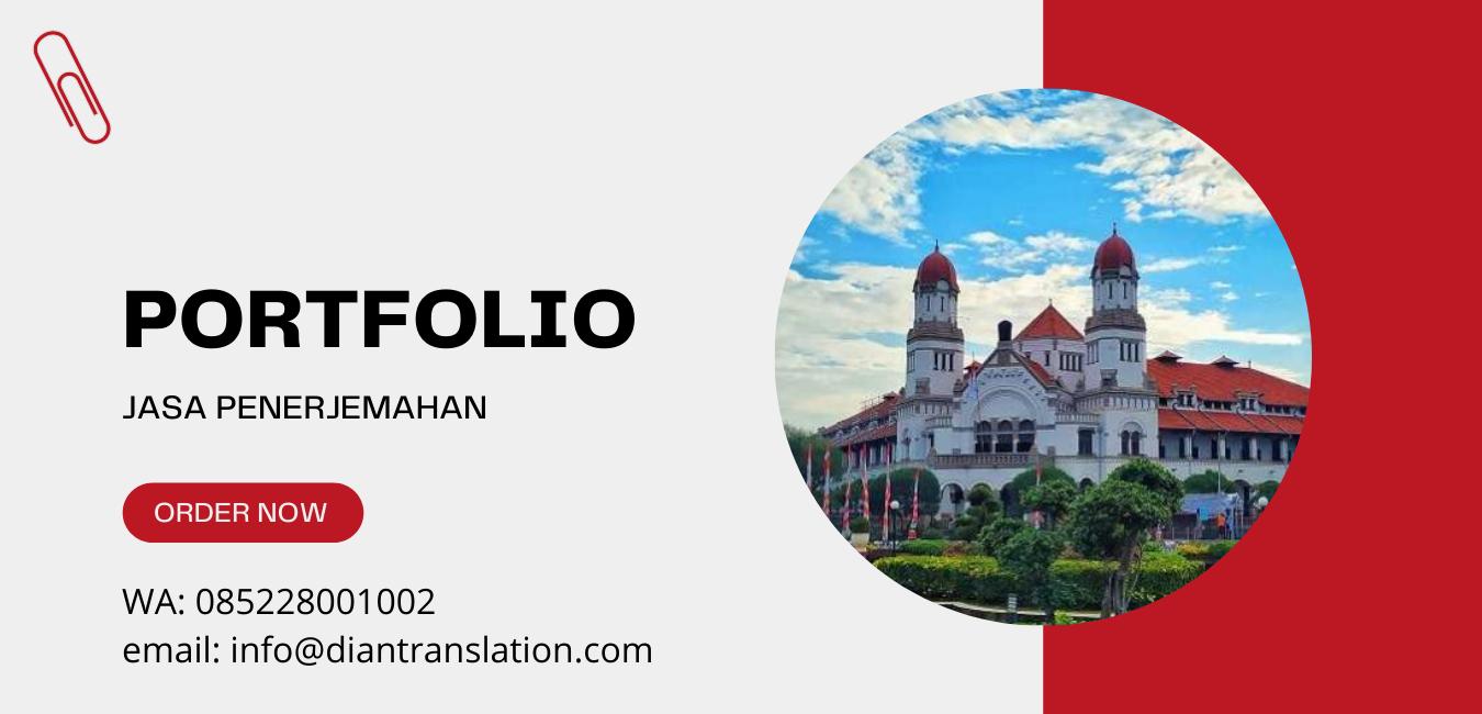portfolio jasa penerjemahan di Semarang